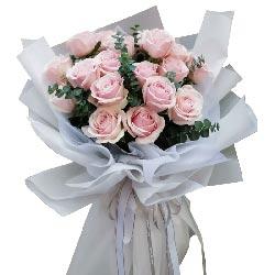 16朵粉色佳人玫瑰,找到真爱