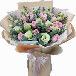 19朵戴安娜粉玫瑰,我一定不会错过你