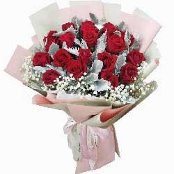 19朵红玫瑰,永远依偎在彼此身旁