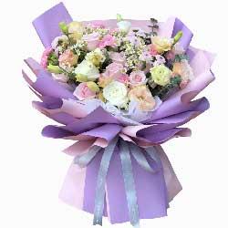 11朵玫瑰桔梗,你的微信深入我心