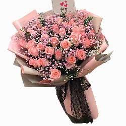 33朵戴安娜粉玫瑰,你是我前世今生的爱人