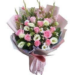 11朵戴安娜粉玫瑰,祝福我们相爱