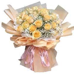 22朵香槟玫瑰,爱情甜蜜