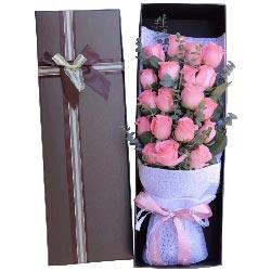 19朵戴安娜粉玫瑰,有你相伴幸福一生