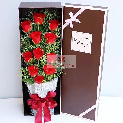 11朵红玫瑰礼盒,爱你一生不变