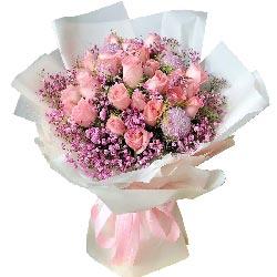 29朵戴安娜粉玫瑰,要好好和你爱一场