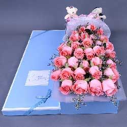 33朵戴安娜粉玫瑰,给你幸福的一生