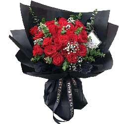 21朵红玫瑰,充满爱的深情
