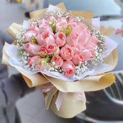 30朵戴安娜粉玫瑰,爱恋你温暖你
