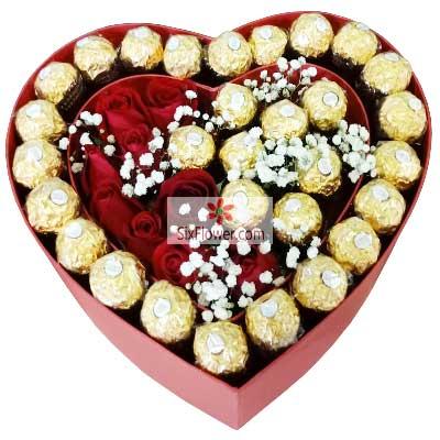 11朵红玫瑰,30颗巧克力,我的爱