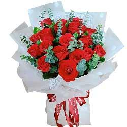 19朵红玫瑰,爱你伴随永远