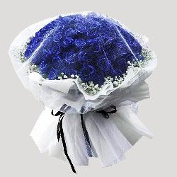 52朵蓝色玫瑰,我爱你永不分离