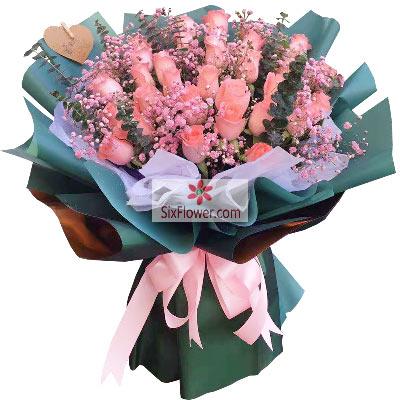 29朵戴安娜粉玫瑰,享那一世的温…