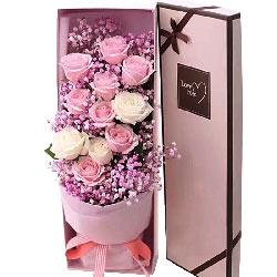 11朵玫瑰礼盒装,人生的最爱