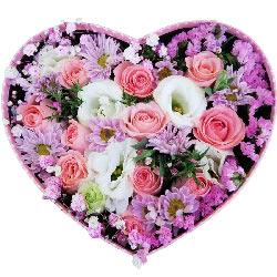 11朵戴安娜粉玫瑰礼盒,你是我的最爱