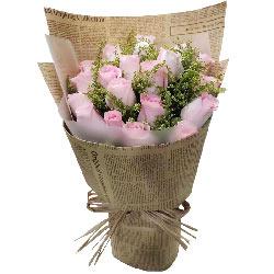 21朵戴安娜粉玫瑰,对你的真爱