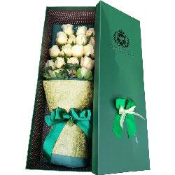 19朵香槟玫瑰礼盒,你是我的一生幸福
