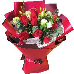 11朵红玫瑰,9朵桔梗,想你在这寒冷的季节