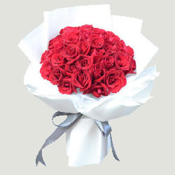 33朵红玫瑰,心永远陪伴着你
