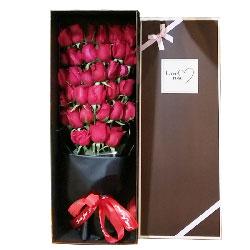 29朵红玫瑰礼盒,时刻愿意与你在一起