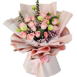 19朵戴安娜粉玫瑰,爱恋一生快乐无限