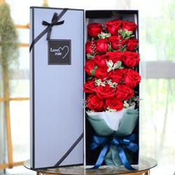 19朵红色玫瑰,礼盒装,爱情甜蜜到永远