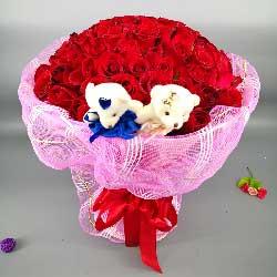 101朵红玫瑰,让我的爱一生陪伴着你