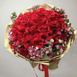 30朵红玫瑰,礼盒装,难忘一往情深