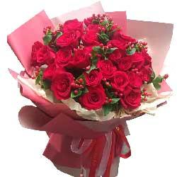 22朵红玫瑰,一直留在你的眼中