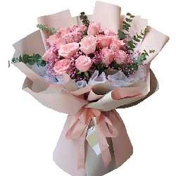 18朵戴安娜粉玫瑰,永恒的青春