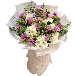 19朵紫玫瑰,我的世界里全是你