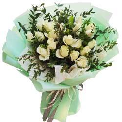 21朵白玫瑰,遇到了爱的那个人