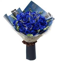 30朵蓝玫瑰,从心爱你