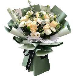 11朵香槟玫瑰,11朵桔梗,你是最美的风景