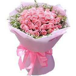 33朵戴安娜粉玫瑰,与心爱的人在一起就是幸福