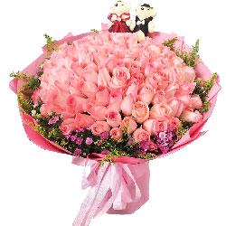 99朵戴安娜粉玫瑰,你是我所爱之人