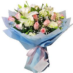 11朵戴安娜粉玫瑰百合,你的模样