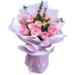 15朵戴安娜粉玫瑰,原谅我吧