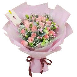 19朵戴安娜粉玫瑰,记忆的芬芳