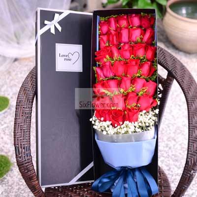 33朵红玫瑰,礼盒装,你让我心动