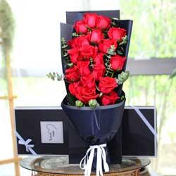 19朵红玫瑰,礼盒装,永远和你在一起