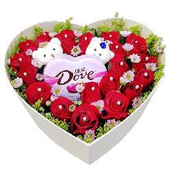 19朵红玫瑰巧克力礼盒,我爱你一生一世
