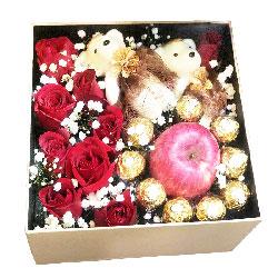 9朵红玫瑰,9颗巧克力苹果,柔情蜜语
