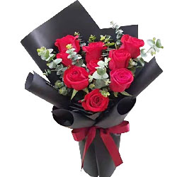 9朵红玫瑰,爱你爱到到灵魂里