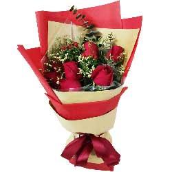 9朵红玫瑰,白头到老的梦语