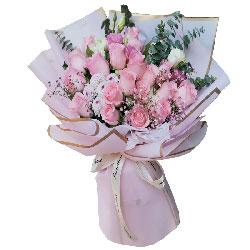 12朵戴安娜粉玫瑰,永远青春美丽