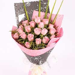 19朵戴安娜玫瑰,幸福的心田