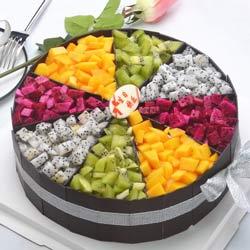 8寸圆形水果蛋糕,很想你