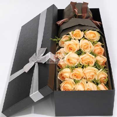 19朵香槟玫瑰,一生呵护你
