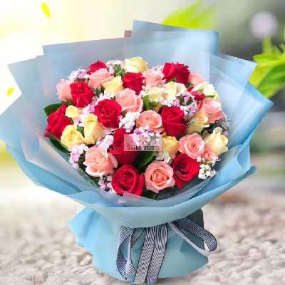 33朵玫瑰花,花束,有你我更甜蜜
